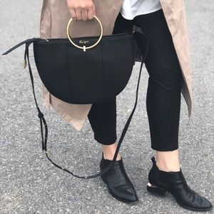 Foley + Corrina Limelight Crescent Ring Bag Black